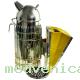 Дымарь пасечный (нержавейка) с защитой от ожога, h250мм, мех кожа