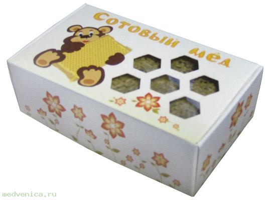 Мёд липовый, в соторамке, в подарочной упаковке