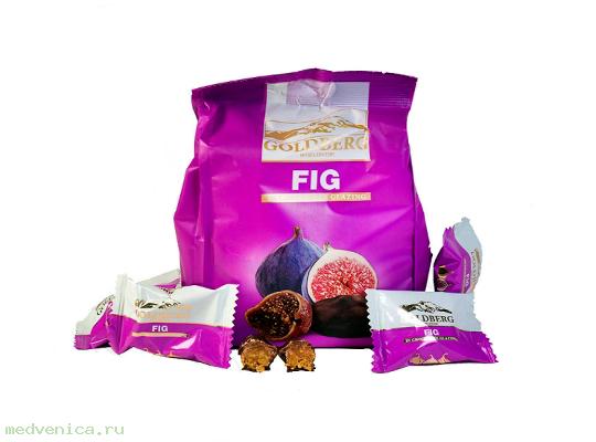 Конфеты Goldberg Инжир в шоколадной глазури, кг