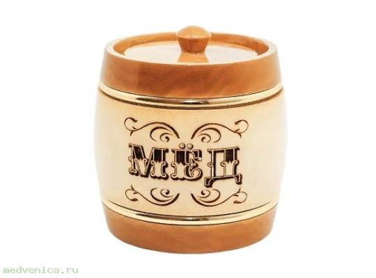 Бочонок для мёда (липа) 0,3кг. арт202