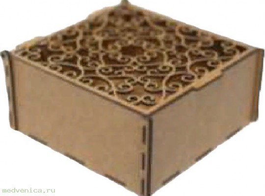 Короб подарочный Ц02 крафт