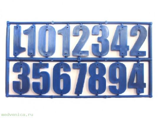 Комплект пластиковых цифр для улья