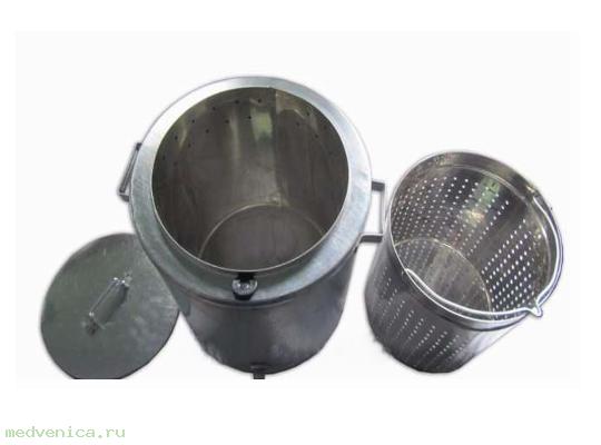 Воскотопка (оцинковка), внутренний бак (пищевая сталь)