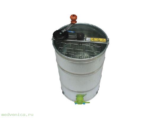 Медогонка 2 рамочная; оборотная; алюминевая;  привод ременный (Донпчеловод)