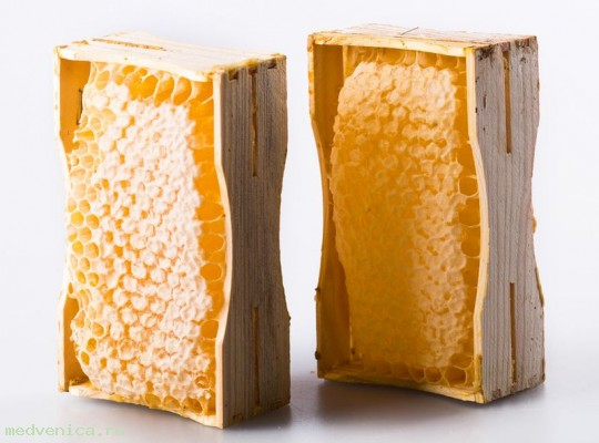 Мёд сотовый в мини - рамке