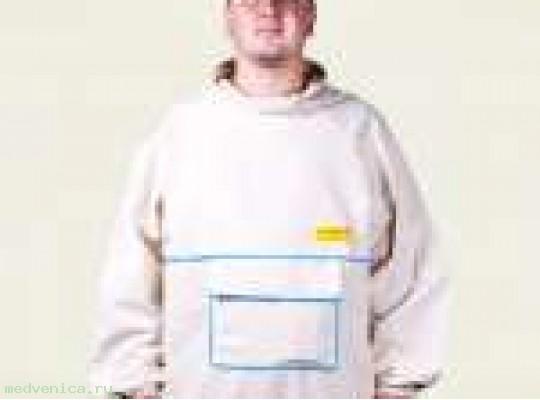 Куртка пчеловода без лицевой сетки (двунитка)
