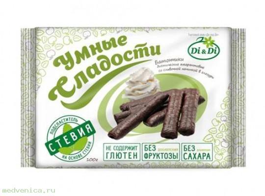 Батончик DI&DI Умные сладости с начинкой, 110гр.