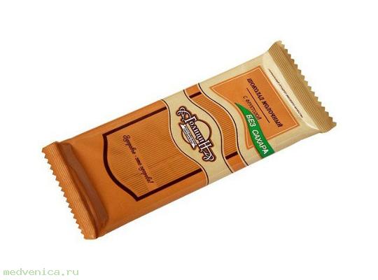 Шоколад Голицин молочный на фруктозе, 60гр.