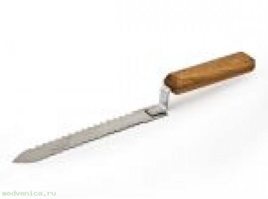 Нож пасечный 180мм (нержавейка, зубчатый)