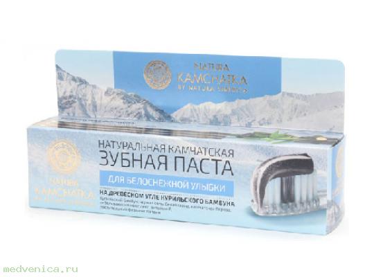 Зубная паста натуральная камчатская для белоснежной улыбки