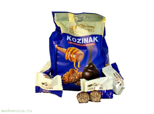 Конфеты Goldberg Козинак в шоколадной глазури, флоупак 200г